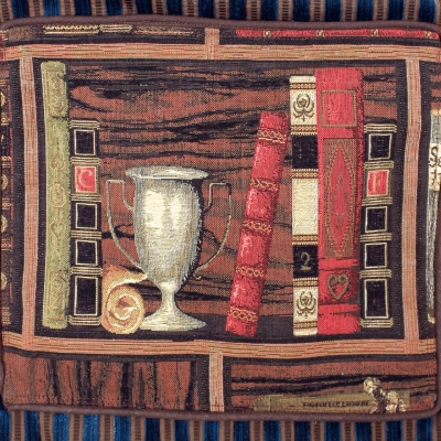 """Gobelin-Vortasche """"Books"""" (Detail)"""