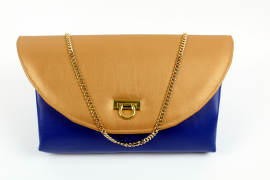 Grand Theatre Clutch in Blau und Gold