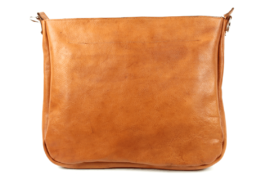 Schultertasche / Rucksack aus weichem, vegetabil gegerbtem Rindsleder - wn0435