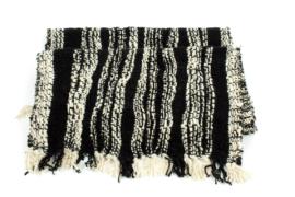 Wende-Stola aus handgesponnener und handgewebter Alpakawolle