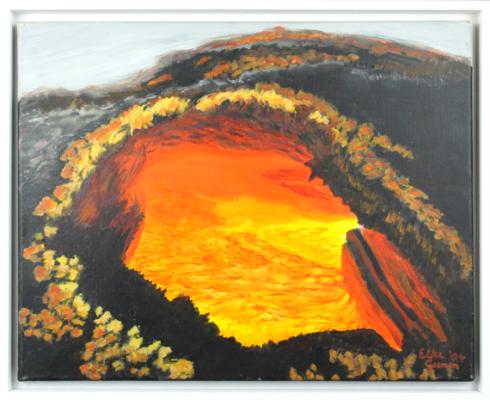 Elke M. Geenen - Lavatunnel Acryl auf Leinwand, 40 x 50 cm, zzgl. Rahmen
