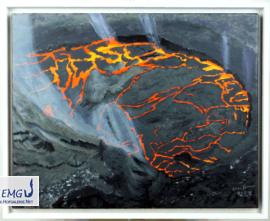 Elke M. Geenen - Krater Acryl auf Leinwand, 50 x 40 cm, zzgl. Rahmen